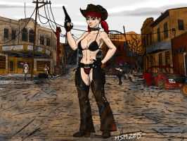 Post Apocalyptic Old Wild West by RedSpider2008