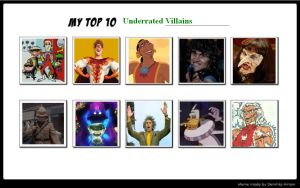 My Top 10 Underrated Villains 03 by SithVampireMaster27