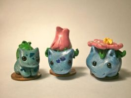 Bulbasaur Evolutionary Family Pennymon by ninjazzy