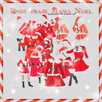 Photopack png ropa mama noel by Yourprincessofstory