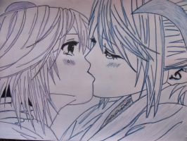 Kissing by Riamu5870