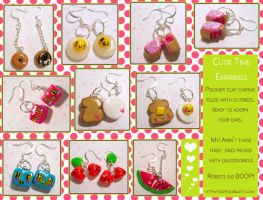 Cutie Time Earrings by tedsie