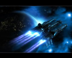 A Spaceship in twilight rev5 by eRe4s3r
