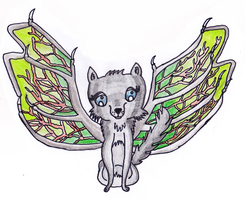 Art Trade- Dragon Wolf : Traditional Drawing by Tumbling-Star
