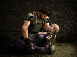 Chris Redfield and Jill Valentine 3 by ceriselightning