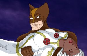 Wolverine Rescues Storm by BobKO