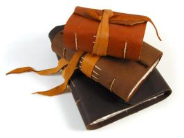 Handbound Leather Journals by contebosch