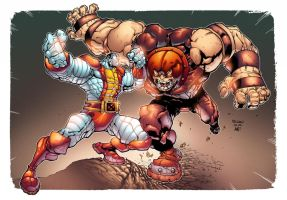 Colossus vs Juggernaut by AlonsoEspinoza