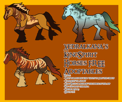 KingSpirit Horses FREE Adoptables 1 by Asoq