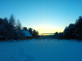 when everything is covered with snow by Darta007
