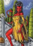 Hallowe'en 2 Sketch Card - Tony Perna 1 by Pernastudios