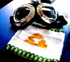 Goggles and Triforce pouch by ArtisticallyBadAss