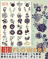 Retro Flowers by Diamara