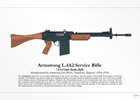 Armstrong L.4A2 Service Rifle (NationStates) by Artifician