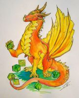 Dice and Dragon by NienorGreenfield