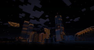 Downtown Greasy Springs night by DanqueDynasty