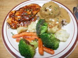 Country Fried Steak Dinner by Sagojyousartpage