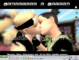 Shikamaru x Temari Sims Kissy by bellagirldee