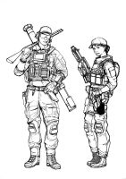 BF4 USMC Engineer class (line art) by ThomChen114