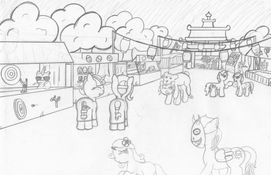 Summer Festival W.I.P by MoonlightScribe