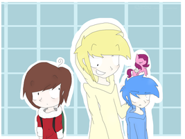 Cheese,Mac and Bloo - Humans style by MicaelaMeow