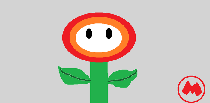 Fire Flower from Super Mario Bros by breawsomegreen