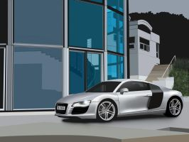 Audi R8 Vector Picture by Dap1987