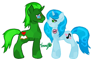 Emerald Twist and Sapphire Swirls by EnvyXtheXPalmXTree