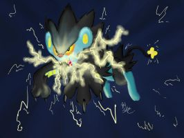 Luxray Used Thunder Fang by AlexsBabyBear