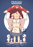 Princess Mononoke fans art by kum---kum