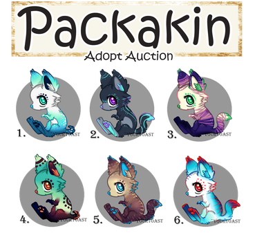 [CLOSED] - ALL SOLD - Baby Packakin Adopt Auction by Yourtoast