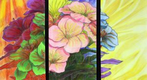 Floral Tryptic by einohpmys