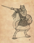Warrior of Nordland - Lineart by Qzurr