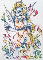 My Little Pony Dragon Ball Z Rainbow Dash by DecibelDisorder3