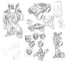 TF HALO BUMBLEBEE DESIGN STUDY by cheetor182