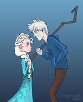 Elsa Meets Jack Frost by SleepyHeadKL
