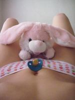 Pacifier on the stomach by Esarina