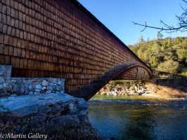 Covered Bridge, California by MartinGollery