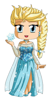Frozen: Chibi Snow Queen Elsa 2 by izka-197