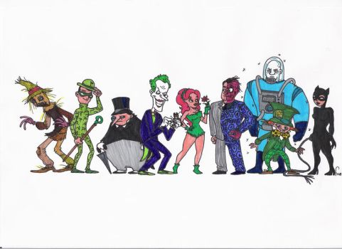 batman villains by inkarnat