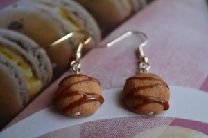 Drizzle Cookie Earrings by PugsAndTea