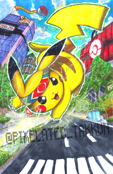 Smash Series: Pikachu used Quick Attack! by Pixelated-Takkun