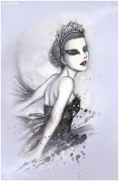 Dance of the Black Swan by MissTrisi