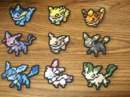 Pokemon Sprite Magnets - Eevolutions (COMPLETE) by UWorlds