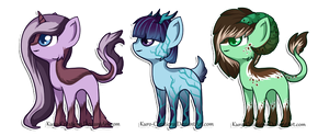 Tiny Designer Ponies: Auction [CLOSED] by Kuro-Creations