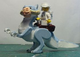 LEGO Tauntaun and Hoth Rebel Minifig by ARMORMAN