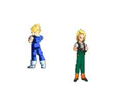 android 18 wedgie animation by ofje