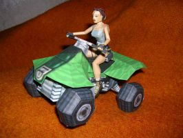 Lara on the Quad - Papercraft by TR-maniac