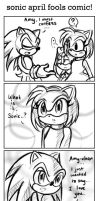 Sonic APRIL FOOLS Comic by ojamajodoremidokkan
