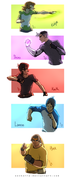 Sketches of the Day - Voltron Paladins Training by SolKorra